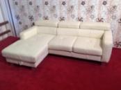 Новый раскладной кожаный угловой диван производства Германии