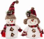 Новогодняя мягкая игрушка «Снеговички» 18х9х25см
