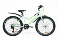 Велосипед ST 24« Discovery FLINT Vbr с крылом Pl 2020 (бело-зеленый )