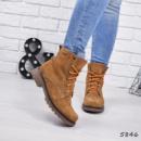 Ботинки женские DB коричневые замша
