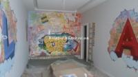 Роспись стен в детской для братьев 3D трещины