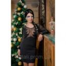 Платье женское мини нарядное праздничное трикотаж сеточка Рио