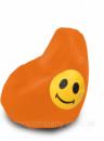 Кресло груша Оксфорд Смайл оранжевая