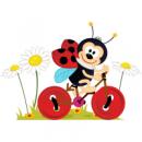 Наклейка Детская Ladybug