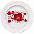 Тарелка керамическая белая, площадь запечатки d 120 мм размер тарелки d 200, PR750