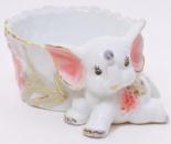 Пепельница фарфоровая «Розовый Слоник» 12.5х7см