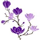 Виниловая Наклейка Glozis Magnolia Violet