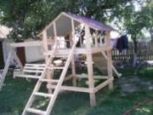 Детская площадка игровой комплекс домик качели горка песочница