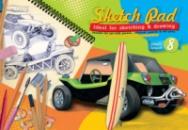 Альбом для рисования Серия «Ретро авто» 8 л. (скоба)