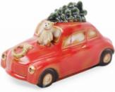 Декор новогодний «Машина» 8.5х16.5х10см фарфор с LED-подсветкой