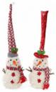 Новогодняя мягкая игрушка «Снеговик в шапке» 16х16х35см