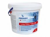 Медленный хлор (Long Chlor Tabs 200 грм).Ведро 5 кг.