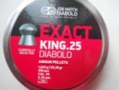 JSB Diabolo EXACT KING 350шт 6.35мм, штамп 0, 1.645г.