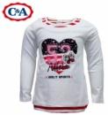 Реглан (футболка с длинным рукавом) двойной эффект белая, бренд «C&A» (Германия)