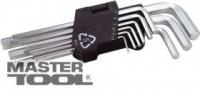 Ключи шестигранные набор 9 шт CrV удлиненные(1,5-10мм L74-172мм) MasterTool 75-0956