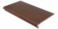 Ступеньки из плитки с капиносом прямые MOODWOOD WENGE TEAK ZLGXP8 30х60 см
