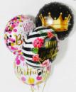 Фольгированные шары ( круг, сердце) с рисунками