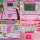 Детский ноутбук русско-английский, розовый