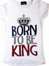 Футболка для девочек «Рождена чтобы стать королевой», бренд «Sugar babe» (Англия)