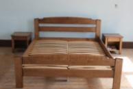 Ліжко деревяне дубове Едель 160*200