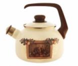 Чайник эмалированный Metrot «Картина» 2,5л со свистком