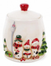 Банка для новогодних сладостей «Трио снеговиков» 2.2л керамическая