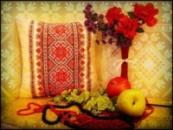 Светящаяся подушка – «Вышиванка»
