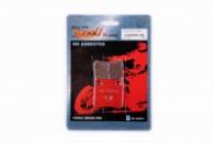 Колодки тормозные (диск) Honda DIO, TACT «YONGLI» (красные)v