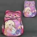 Рюкзак школьный для девочки «Барби с котенком»