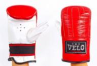 Снарядные перчатки кожаные VELO(M-XL) 4006-R красный-белый