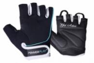 Рукавички для фітнесу PowerPlay 1750 жіночі Чорно-Блакитний XS
