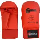 Перчатки для карате SMAI с защитой большого пальца. Цвет красный. Одобрено WKF