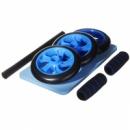 Тренажер для пресса Синий на 3 колеса