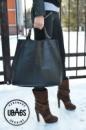 Кожаная женская сумка «Big black»