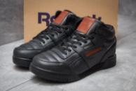 Зимние кроссовки на меху в стиле Reebok Classic, черные (30311),  [  43 45  ]