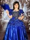 Прокат платья «Букли» синее на выпуск в детский сад.
