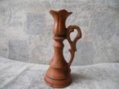 Подсвечник «Тюльпан» из красной глины