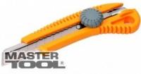 Нож 18 мм пластиковый с металлической направляющей винтовой замок MasterTool 17-0328