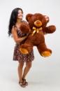 Плюшевый медведь Томми 100см Шоколадный