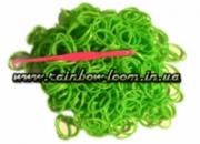 Салатовые резинки для плетения Rainbow loom