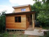 Строительство маленькой бани из дерева на даче Кривой Рог