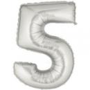 Цифра 5 90 см (наполнение гелий)