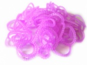 Сиреневые пузырчатые круглые резинки для плетения Rainbow loom