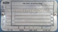 Дублирующие таблички (шильды) на авто FORD любой модели и кузова