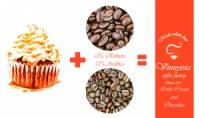 Кава зернова ароматизована Вінницька Фарбрика Кави Ірландський крем з Шоколадом 1 кг.