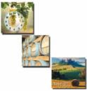 Часы настенные «Солнечная Тоскана» на холсте 3х секционные