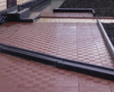Тротуарная плитка «Печенье» Красная