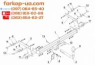 Тягово-сцепное устройство (фаркоп) Dacia Duster (2017-...)