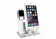 Подставка под Apple Watch 38/42mm/ iPhone 5/5s/6/6s/6 plus aluminium Серебристая (AL977)