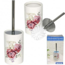 Туалетный ершик с подставкой 33,5х10 см Цветы Snt 888-05-002